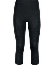 Odlo Dámské černé černé grafitové šedé tri čtvrtiny kalhoty