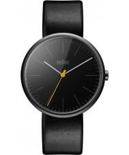 Braun BN0172BKBKG Pánská klasický tenký černý kožený řemínek hodinky