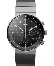 Braun BN0095BKSLBTG Pánská prestiž stříbro tón chronograf hodinky
