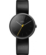 Braun BN0172BKBKL Pánská klasický tenký černý kožený řemínek hodinky