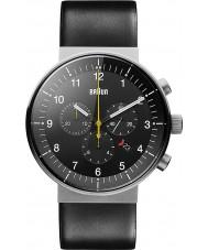 Braun BN0095SLG Pánská prestiž černá chronograf hodinky