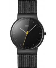 Braun BN0211BKMHG Pánská klasický tenký černý ocelový náramek hodinky