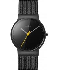 Braun BN0211BKMHL Pánská klasický tenký černý ocelový náramek hodinky
