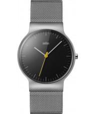 Braun BN0211BKSLMHG Pánské klasické tenké stříbrné ocelové pletivo náramek hodinky