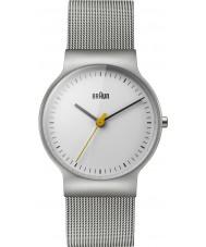 Braun BN0211WHSLMHL Dámy klasické tenké stříbrné ocelové pletivo náramek hodinky
