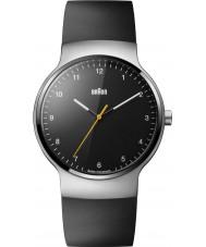 Braun BN0221BKSLBKG Pánská prestiž tenký černý gumový pásek hodinky