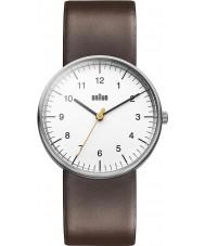 Braun BN0021WHBRG Pánské hodinky bílým hnědý