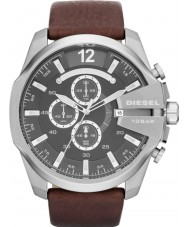 Diesel DZ4290 Pánská mega šéf černá hnědá chronograf hodinky 4851c4aa60f